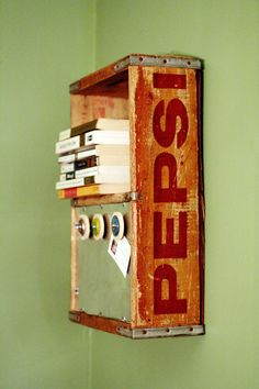 Soda Crate Upcycled Tutorial - Soda Crate to Magnet Board