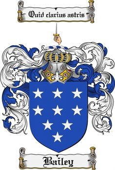 Bailey Coat of Arms Bailey Family Crest Instant Download $7.99