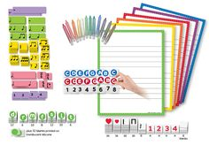 Double Staff Wipe-off Charts, 4 MINI MGR Sets & Chalk Crayons