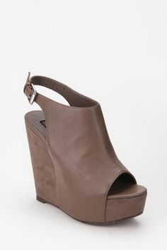 """Deena & Ozzy Architectural Peep-Toe Platform Wedge -- """"great quality & I get tons of compliments"""""""