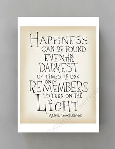 Happiness can be found... Harry Potter movie quote door SimpleSerene, $15.00