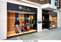 London, England, UK. Sloane Street - Loro Piana (no 47-48) - Stock Image