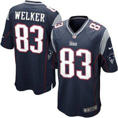 a80488dcb25 New Youth Blue NIKE Game New England Patriots #83 Wes Welker Team Color NFL  Jersey