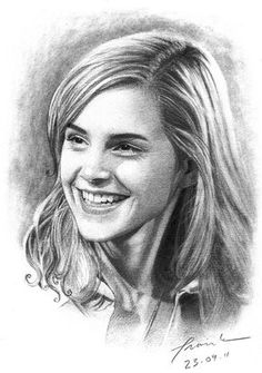 Pencil Portraits - Emma Watson by FrankGo on DeviantArt - Discover The Secrets Of Drawing Realistic Pencil Portraits.Let Me Show You How You Too Can Draw Realistic Pencil Portraits With My Truly Step-by-Step Guide. Portrait Au Crayon, Pencil Portrait Drawing, Portrait Sketches, Pencil Art Drawings, Realistic Drawings, Art Drawings Sketches, Portrait Art, Harry Potter Sketch, Harry Potter Artwork