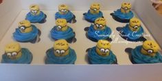 Minions Cupcakes - marshmallow cupcake toppers!