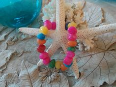 Bracelet  Colorful Confetti Beaded Stone by YouniquelyElegant, $15.00