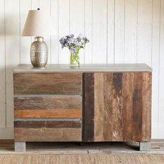 SMALL RECLAIMED BARN WOOD SIDEBOARD