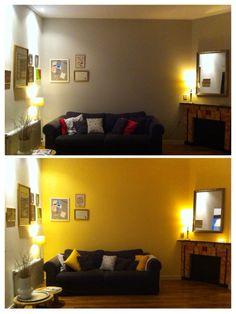 Gele wand in het huis van blogger Leonie Koenders - - Geel ...
