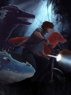 Httyd Jurassic World AU~ Let's hope raptor dad! Hiccup and his four babies Stormfly, Toothless, Cloudjumper and SKullcrusher survive their first direct encounter with the Indominus- Bewilder Rex! Httyd, Hiccup And Toothless, Hiccup And Astrid, How To Train Dragon, How To Train Your, Dreamworks Animation, Disney And Dreamworks, Dragons, Jurassic Park World
