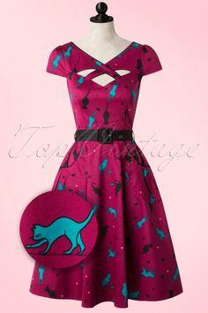 Vixen Purple Cat Swing Dress 102 69 16279 20151006 0003WVpop