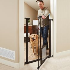 Diy Dog Gate, Diy Baby Gate, Door Protector From Dog, Indoor Dog Area, Extra Tall Pet Gate, Tall Dog Gates, Puppy Room, Dog Spaces, Pet Door
