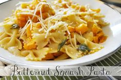 Butternut Squash Pasta with Sage and Browned Butter