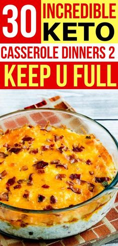 These easy keto casserole dinners are AMAZING! So many low carb casserole recipes to choose from! These healthy casseroles make the BEST dinner on my ketogenic diet! dinnerrecipes 30 Easy Keto Casserole Dinners That Are Totally Low Carb Ketogenic Casserole, Keto Casserole, Casserole Recipes, Ketogenic Recipes, Diet Recipes, Healthy Recipes, Ketogenic Diet, Shake Recipes, Low Carb Dinner Recipes