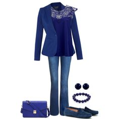 """""""So Blue!"""" by barbaratweten on Polyvore"""