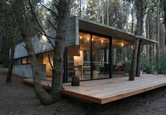 Cottage Home Design - low cost cottage in Argentina located in the resort setting of Mar Azul, on the shore of Buenos Aires, Argentina. Designed by Argentina's BAK Architects.: