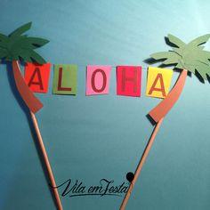 Topo de Bolo Aloha