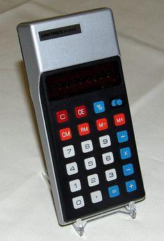Vintage Unitrex Pocket LED Calculator, Model 91PM, Made in Hong Kong, Circa 1975.