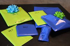 Gifts for Big Brothers and Sisters- label each one for the days you are away at the hospital! LOVE THIS!