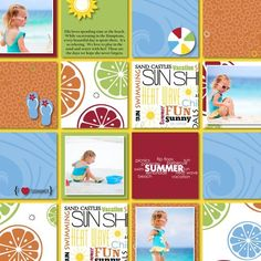 Sunshine + Sand = Fun . . . . . . . . . . From Creative Memories Project Center: http://projectcenter.creativememories.com/photos/digital_family_and_friend/cheerful-summer-addition-beach-page-layout-idea.html