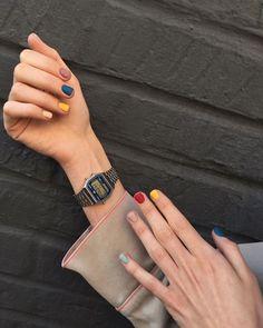 45 Gorgeous Nail Art Designs Ideas For Short Nails Pastel Nails, Acrylic Nails, Gel Nails, Nail Polish, Minimalist Nails, Winter Nail Art, Winter Nails, Summer Nails, Cute Nails
