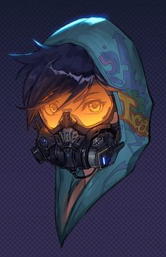 Overwatch - Graffiti Tracer Skin Portrait