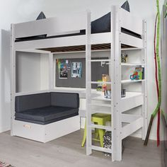 25 DIY Kids Furniture Plans is part of Loft bunk beds - There are great ideas on DIY kids furniture for their bedrooms, living rooms and even outdoors so the furniture can accommodate them in every Bedroom Design, Diy Loft Bed, Kids Loft, Bedroom Decor, Room Design Bedroom, Cute Room Decor, Small Bedroom, Room Ideas Bedroom, Kids Loft Beds