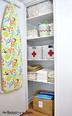 Ideas for an organized linen closet- Simplicity In The South