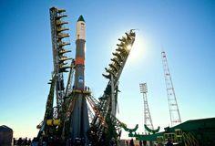"""Nachschub: Nachschub für die Internationale Raumstation ISS: Russland hat einen unbemannten Transporter mit mehr als 2,3 Tonnen Nahrungsmitteln, Treibstoff und privater Post ins All geschossen. Der """"Progress""""-Transporter braucht sechs Stunden bis zum Andocken. Derzeit arbeiten drei Russen, zwei Amerikaner und ein Japaner auf dem Außenposten der Menschheit in rund 400 Kilometer Höhe. Mehr Bilder des Tages auf: http://www.nachrichten.at/nachrichten/bilder_des_tages/ (Bild: EPA)"""