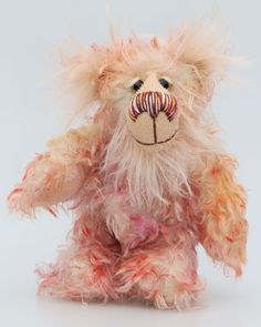 Sammy Snidget is an extremely lovable and sweet, one of a kind, little artist bear made from gorgeous hand dyed mohair by Barbara-Ann Bears