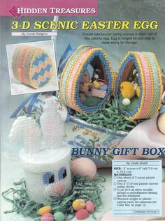 3-D SCENIC EASTER EGG by CAROLE RODGERS 1/2