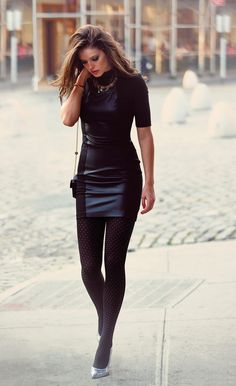 "Black outfit, with just enough ""bling"".Beautiful pictures"