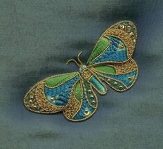 Goldwork butterfly - how beautiful