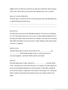 Basic Rental Lease Agreement Form CakepinsCom  How Not To Be A