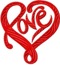 Love sign free embroidery design