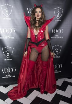 Alessandra Ambrosio Wore a Devil Costume Fit For an Angel at Her Halloween Party