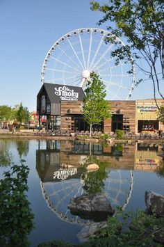 Pigeon Forge is home to a great place called the Island - With great places to eat and the great Wheel to ride, you won't run out of things to do!