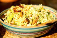 U nás na kopečku: ... cizrnový salát s krůtím masem .... Quinoa, Potato Salad, Grains, Potatoes, Cooking, Ethnic Recipes, Bulgur, Kitchen, Potato