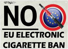 A no smoking sign that has been adapted to show support against the electronic cigarette ban.  Image created by mustbf8  http://www.evape.co.uk