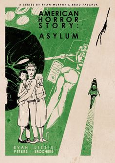 American Horror Story Asylum vintage-inspired illustrations