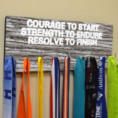 Hooked On Medals Hanger Courage To Start tr-16514 by GoneForaRUN