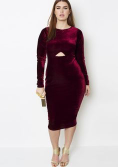 red velvet cutout dress grisel holiday collection