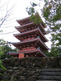 五台山竹林寺 五重塔