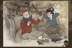 Mycroft and Sherlock as kids - love it!