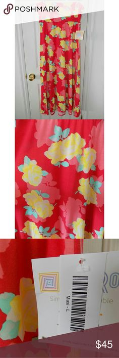 ⚡SALE!!! NWT LuLaRoe Floral Maxi Skirt New with tags! Super pretty and comfortable. The bright floral pattern is rare and beautiful! This maxi skirt is very versatile and can be worn several different ways. The maxi is a size large but will also fit size XL. LuLaRoe Skirts Maxi
