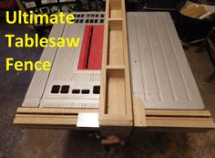 Table Saws The Ultimate Table Saw Fence - Sleds, jigs, and mods -- oh my! Your table saw can do a lot more than make straight cuts. These Instructables will show you how to make circles, cut dowels, make box. Table Saw Sled, Table Saw Jigs, Tool Table, A Table, Diy Table Saw Fence, Cheap Table Saw, Woodworking Table Saw, Woodworking Jigs, Woodworking Projects