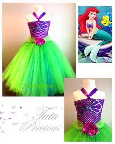Disney Inspired Ariel The Little Mermaid Tutu Dress - dressing up costume Cinderella Tutu Dress, Princess Tutu Dresses, Ariel Dress, Little Princess, Disney Princess Tutu, Space Princess, Disney Tutu Costumes, Dress Up Costumes, Fairy Costumes