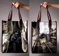 Very creative bag by Canon