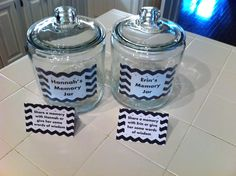 Memory jar for graduation party