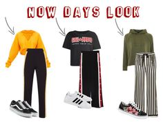 """""""now day look"""" by dianasuryapraja on Polyvore featuring Topshop, Tommy Hilfiger, Morgan Lane, adidas and Vans"""