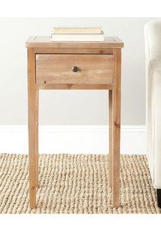 nice Safavieh Watches Red Maple Abel End Table with Storage Drawer
